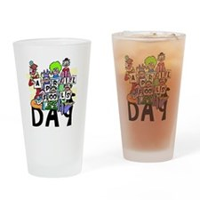 Clown front Drinking Glass