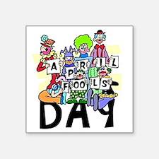 "Clown front Square Sticker 3"" x 3"""