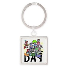 Clown front Square Keychain