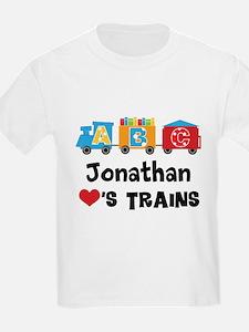 Personalized Kids Train T-Shirt