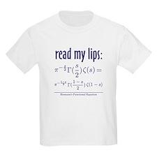 Riemann's Functional Equation Kids T-Shirt