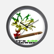 rasta with black letters copy Wall Clock