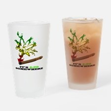 rasta with black letters copy Drinking Glass