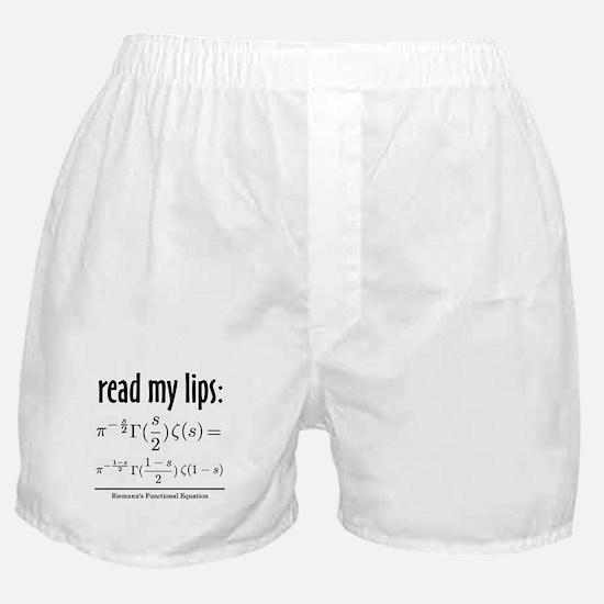 Riemann Functional Equation Boxer Shorts