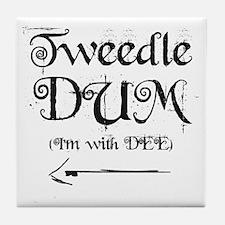 TweedleDUM.gif Tile Coaster