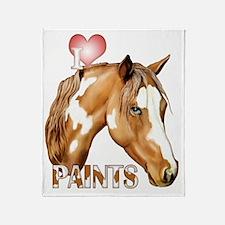 I Love Paints Throw Blanket