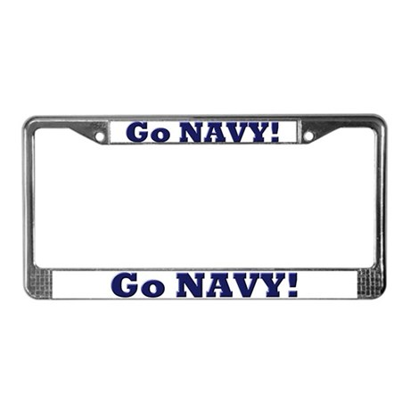 Go Navy License Plate Frame
