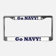 Go Navy License Plate Frame