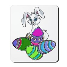 2-EASTER BUNNY WITH EGGS Mousepad
