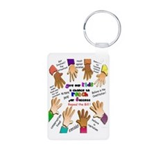 give our kids poster Keychains