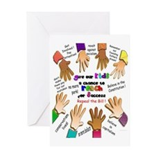 give our kids poster Greeting Card