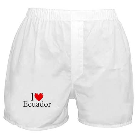 """""""I Love Ecuador"""" Boxer Shorts"""