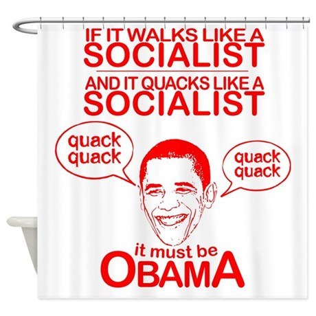 Obama the Duck Shower Curtain