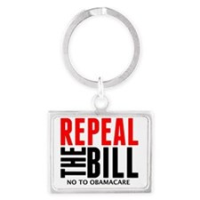Repeal the Bill_NOBAMA Landscape Keychain