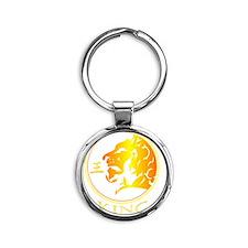 Lion (King) Round Keychain