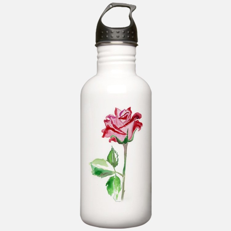 A Single Red Rose Water Bottle