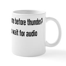 WaitForAudio Black Mug
