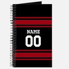 Sports Jersey Black Red Journal