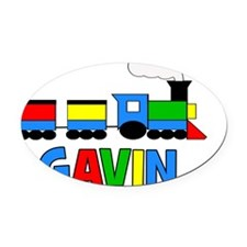 TRAIN_Gavin Oval Car Magnet