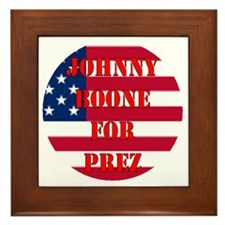 johnny for prez Framed Tile