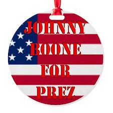 johnny for prez Ornament