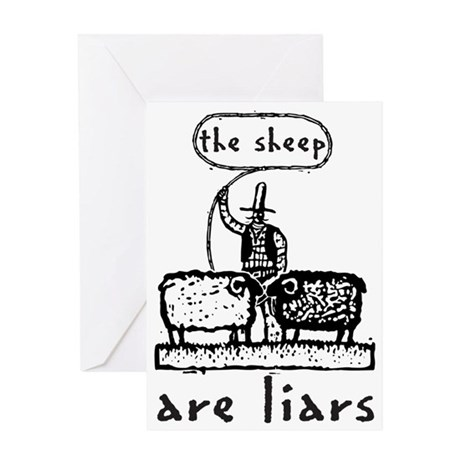 sheep are liars Greeting Card