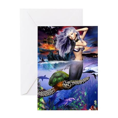 mermaidposter Greeting Card