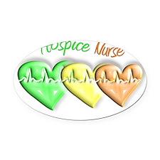 Hospice Nurse Oval Car Magnet