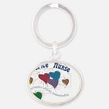 Hospice Nurse Oval Keychain