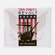 Tea Party Revolt Eagle Throw Blanket