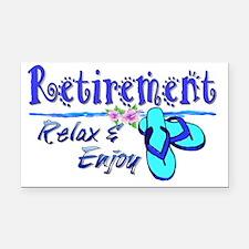 Relax  Enjoy Rectangle Car Magnet