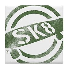 sk8_stamp_dark Tile Coaster