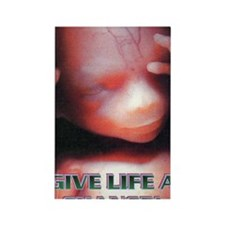 GIVE LIFE A CHANCE(large poster) Rectangle Magnet