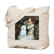Ophelia - Maltese (B) - square Tote Bag