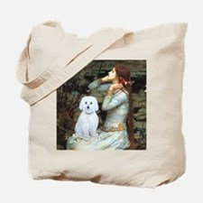 Ophelia - Maltese (B) - square Tote Bag