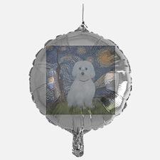 Starry Night - Maltese (B) - square Balloon