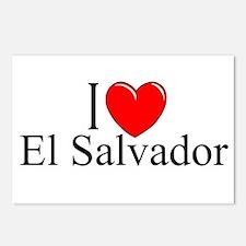 """""""I Love El Salvador"""" Postcards (Package of 8)"""