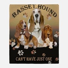 Basset Hounds Cant Have Just One Throw Blanket