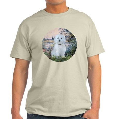 By the Seine - Maltese (B) - ornamen Light T-Shirt