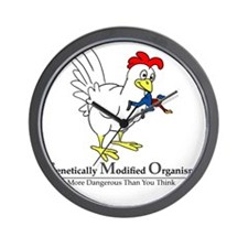 GMO Chicken Wall Clock
