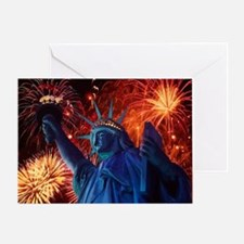 Lady_Liberty_Poster Greeting Card