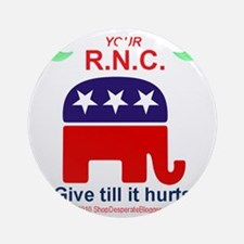 RNC Donations copy Round Ornament