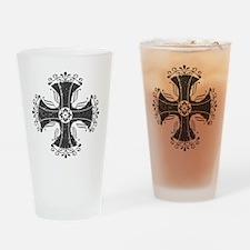 Iron cross gray Drinking Glass