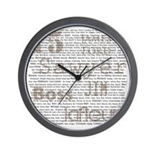 Sawyer Names Season 1 to 6 revised Wall Clock