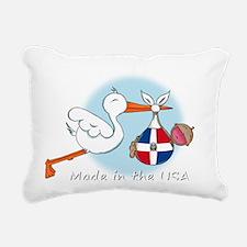 stork baby domin white 2 Rectangular Canvas Pillow