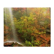 Autumn Waterfall Throw Blanket