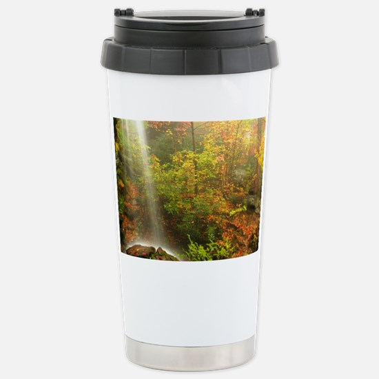 Autumn Waterfall Stainless Steel Travel Mug