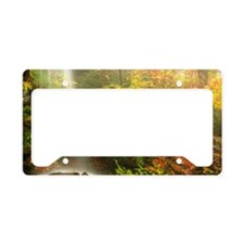 Autumn Waterfall License Plate Holder