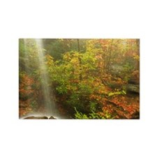 Autumn Waterfall Rectangle Magnet