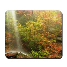 Autumn Waterfall Mousepad